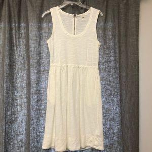 JCREW cream tank dress